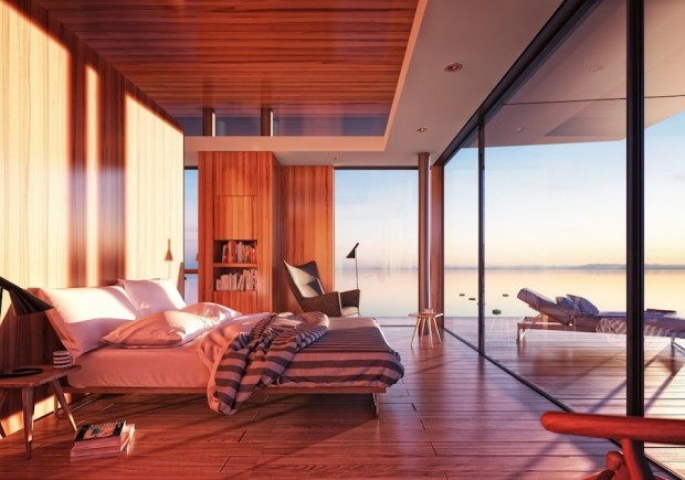 floating house houseboat interior