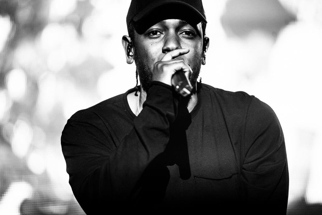 Kendrick Lamar performing live
