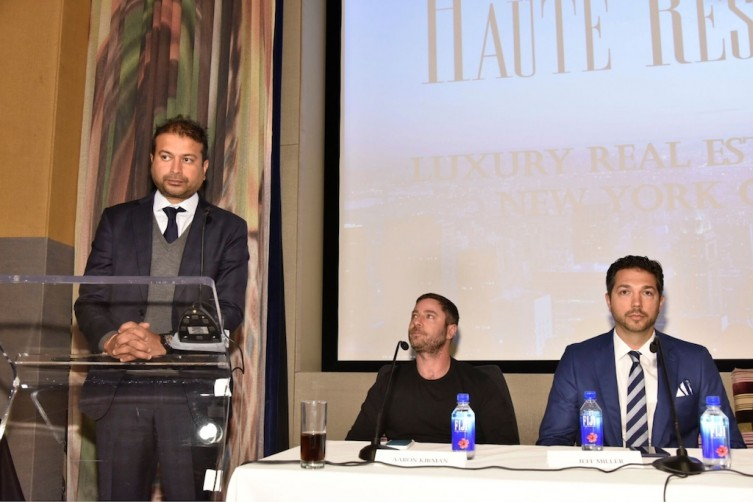 Haute Living CEO Kamal Hotchandani, Aaron Kirman, Jeff Miller / Photo Credit: Eugene Gologutsky