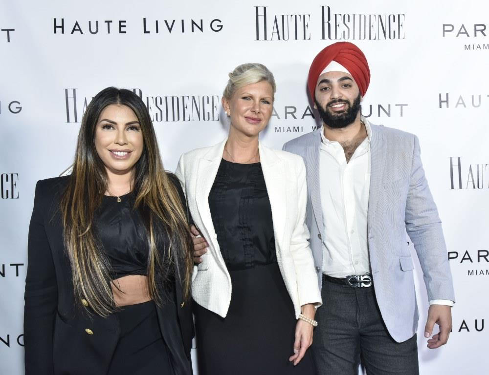 Jaclyn Rosenberg, April Donelson, and Raunaq Singh / Photo by Eugene Gologursky/Getty Images for Haute Living