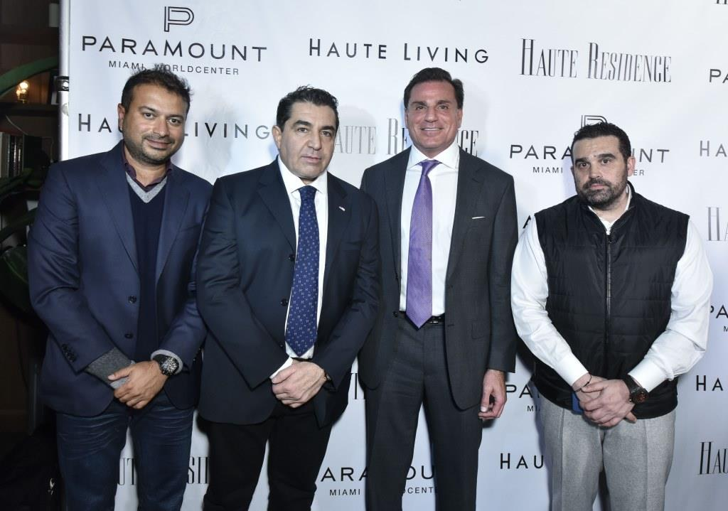 Kamal Hotchandani, Paolo Zampolli, Dan Kodsi and Seth Semilof / Photo by Eugene Gologursky/Getty Images for Haute Living