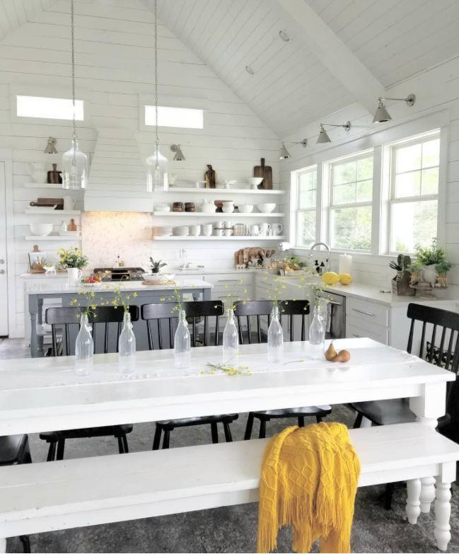 kitchen open and airy