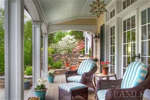 Ryan Reynolds Blake Lively Pound Ridge Porch