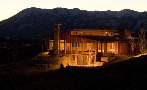 Harrison Ford Wyoming Ranch house