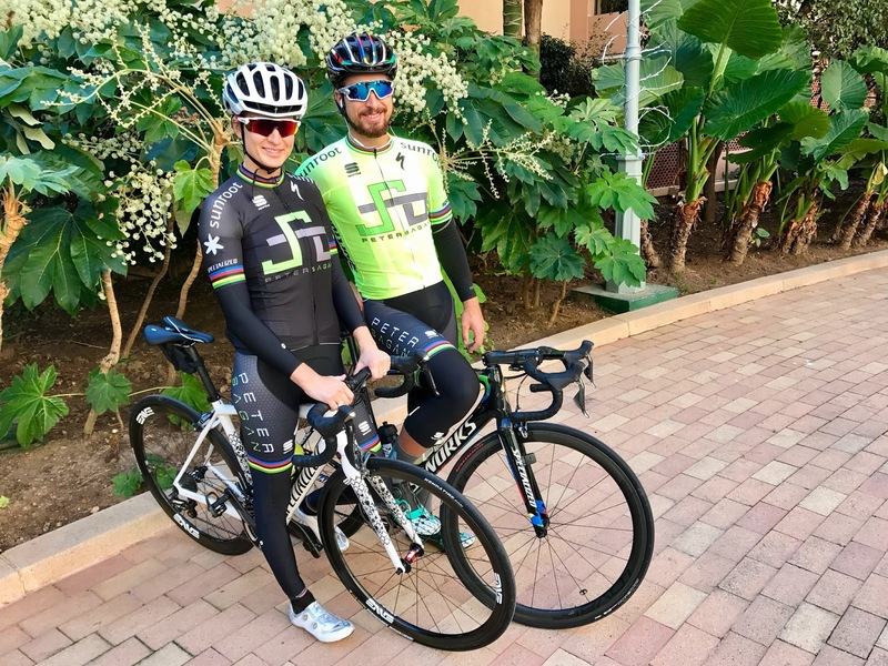 Peter Sagan and his wife take a ride in Monaco