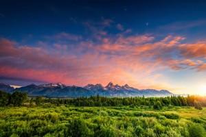 Wyoming sunset istock photo
