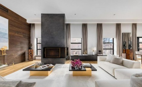 John Legend and Chrissy Teigen new York penthouse living room
