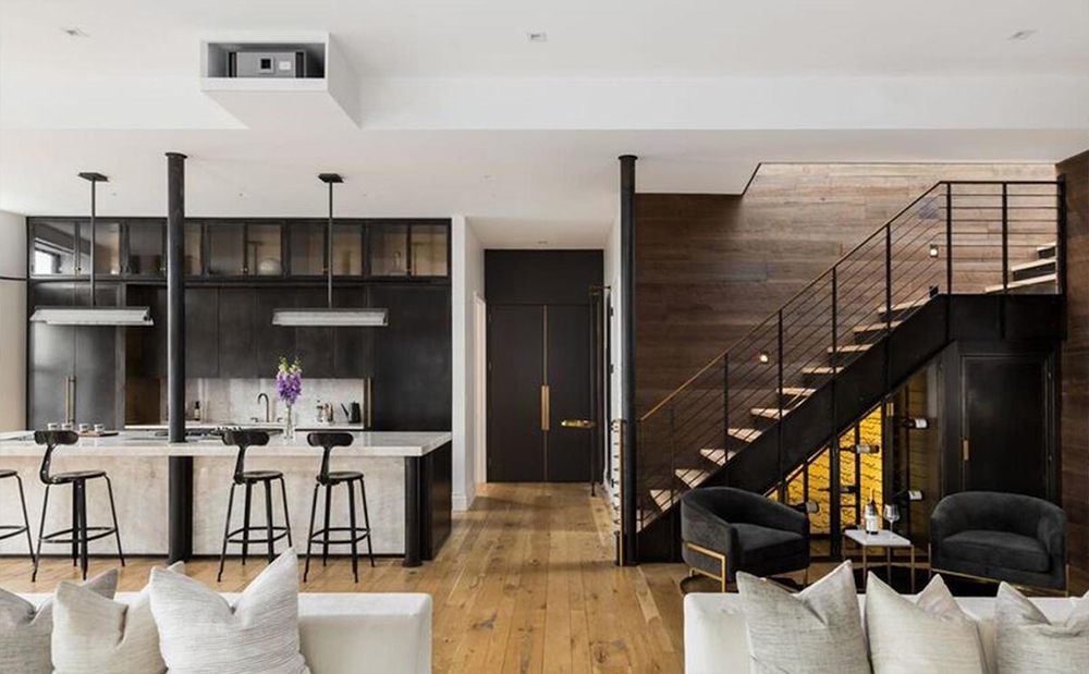 John Legend and Chrissy Teigen New York Penthouse staircase