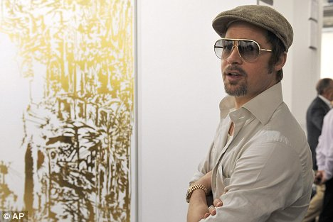 Brad Pitt at Art Basel Switzerland