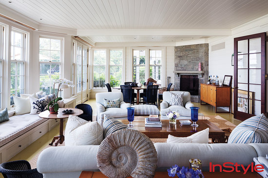 Jerry Seinfeld East Hampton house living