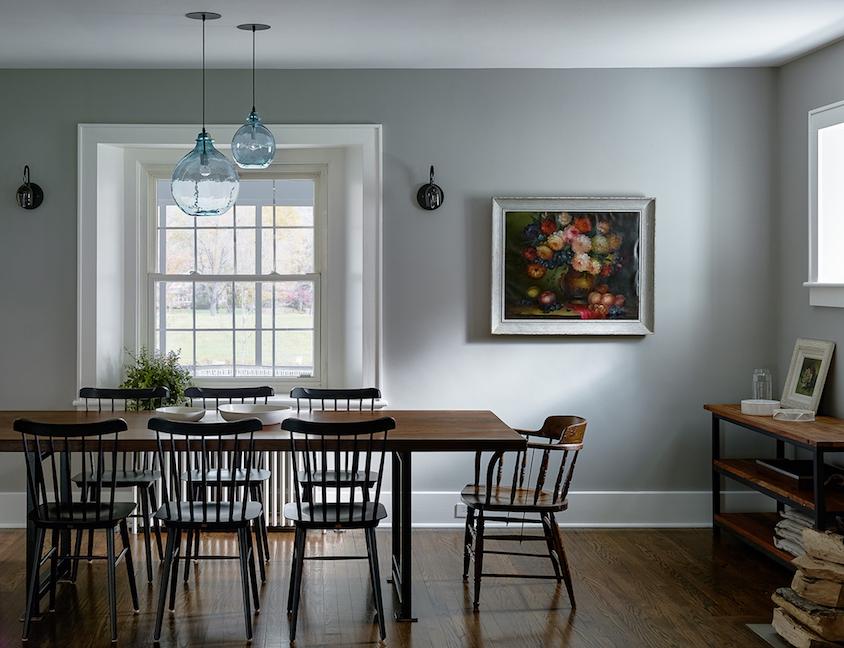 Amanda Seyfried dining room Catskills