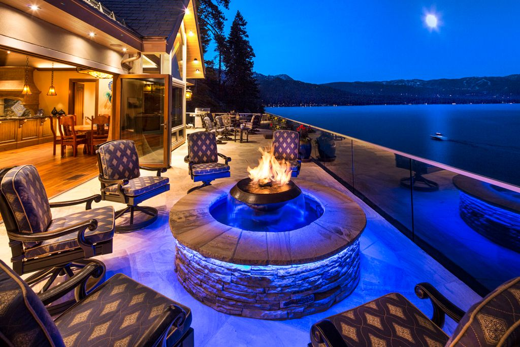Crystal Pointe fire pit Lake Tahoe