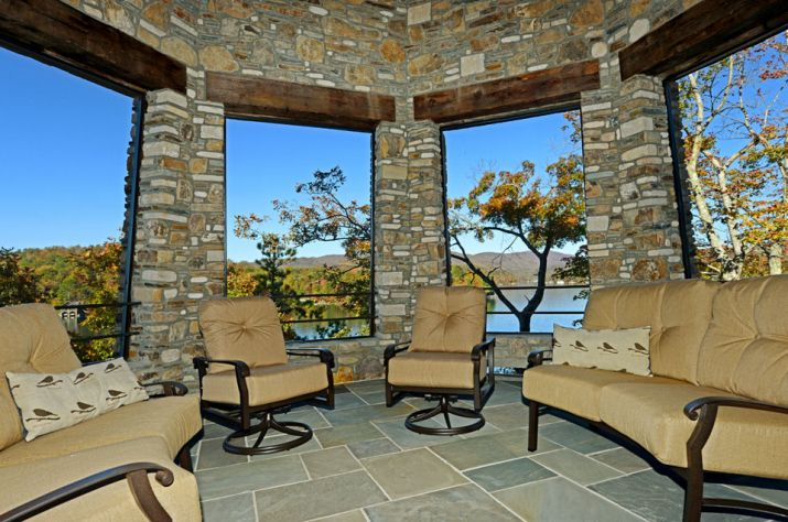 Nick Saban lighthouse in lake house interior