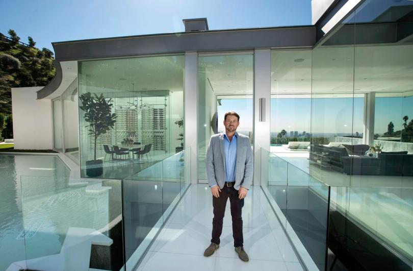 Paul McClean, owner of McClean Design, stands in a house he designed at Doheny Estates in Los Angeles.
