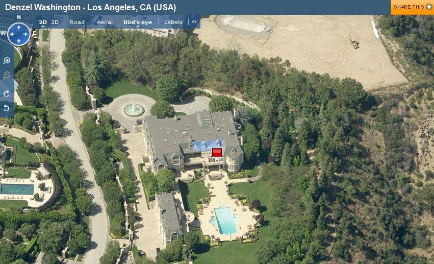Celebrity Living Denzel Washington House In Los Angeles Ca Haute