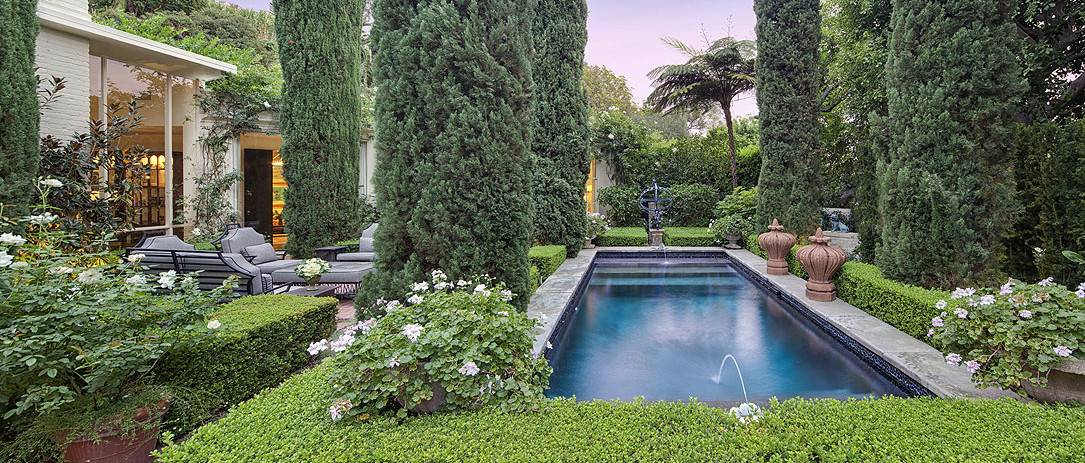 Traditional Estate Showcases Formal Garden