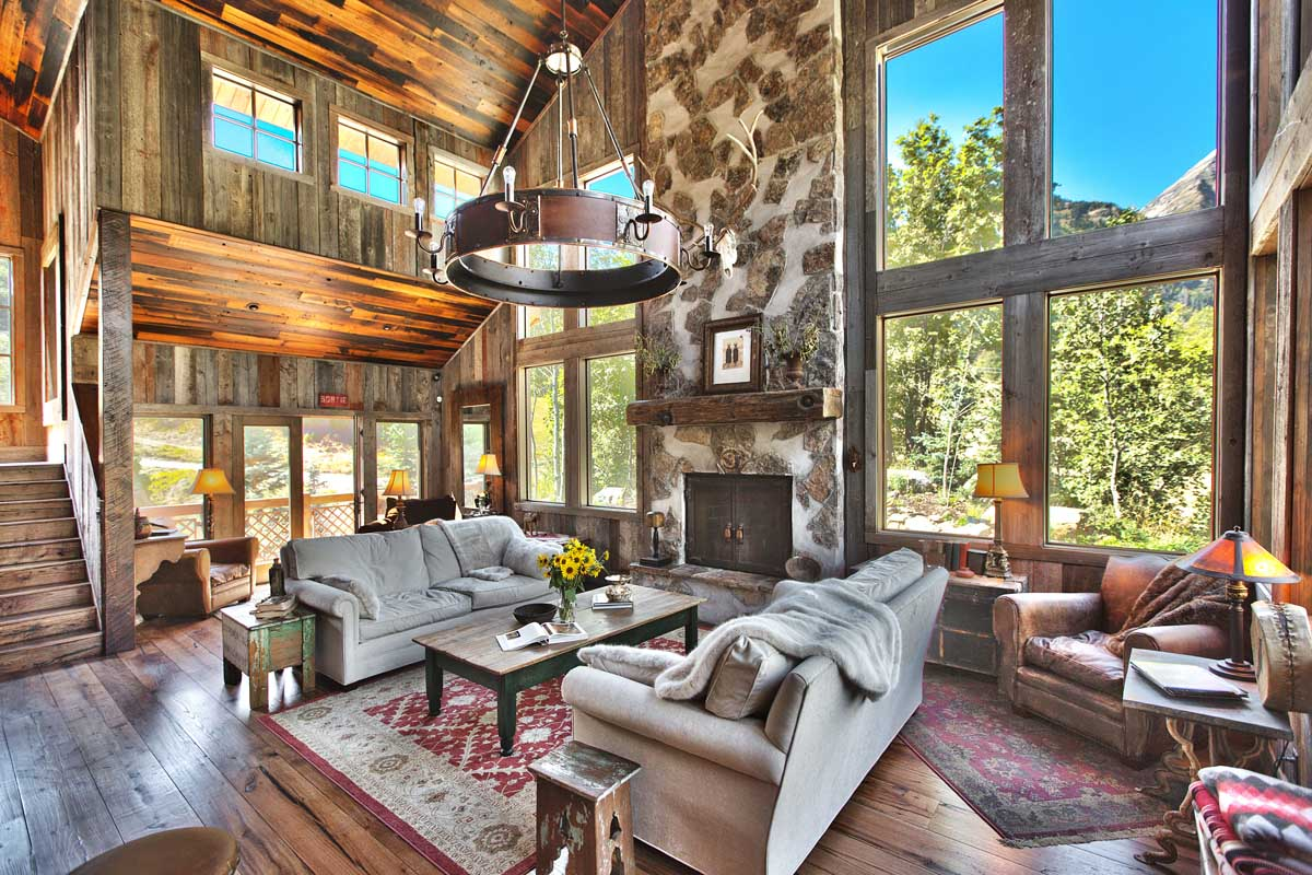 Ski Chalet Interior Design french monastery-inspired ski chalet