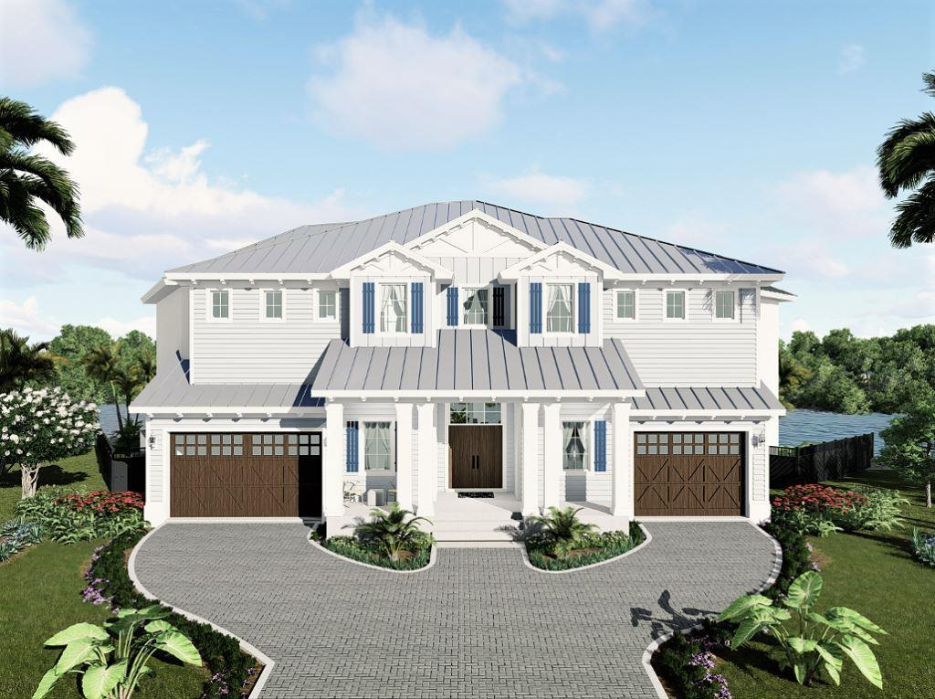 About to start construction, 410 Spinnaker is to boast a coastal modern design with4 bedrooms, 4 baths, and 2 half baths.
