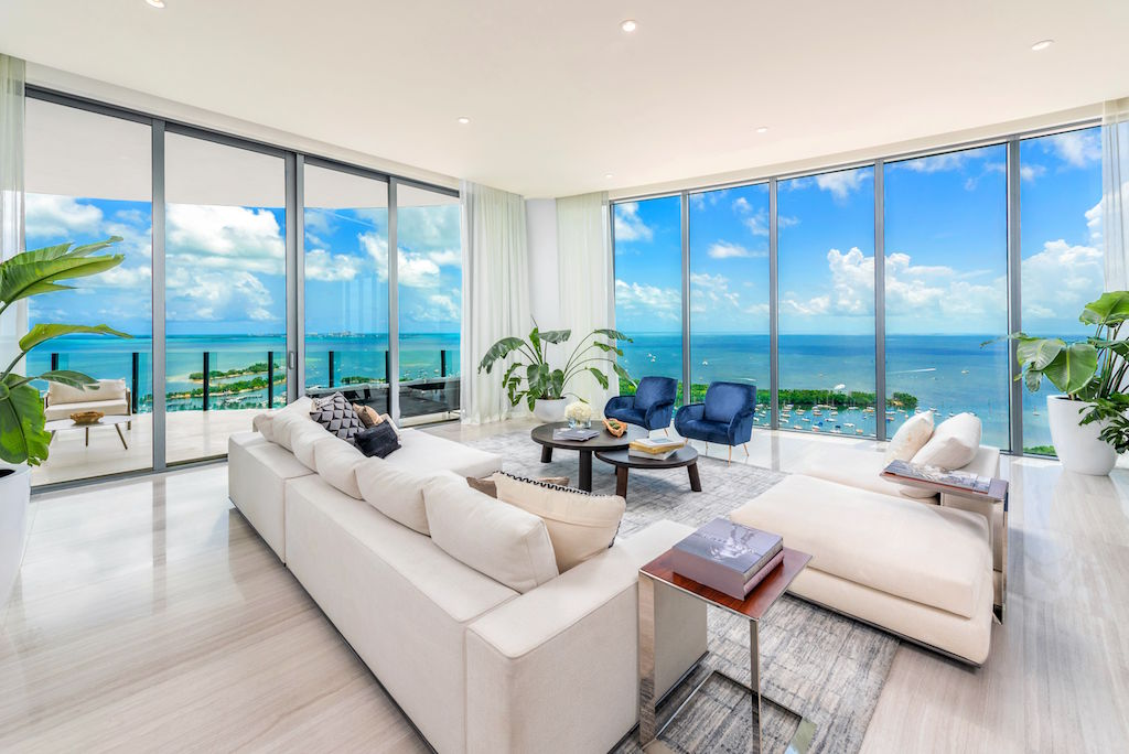 One Park Grove living room