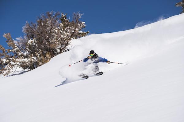 a skier on powder mountain utah