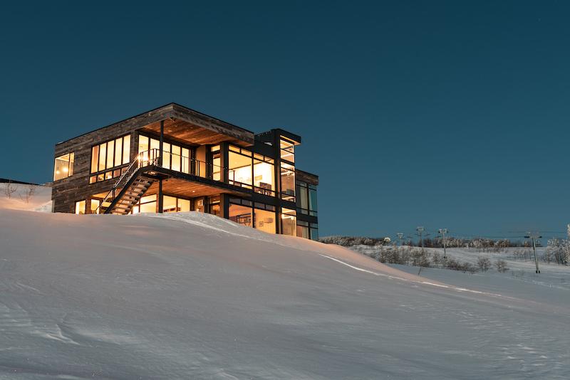home on top of Powder Mountain in Utah