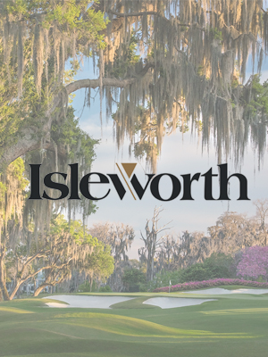 Isleworth Realty logo and golf course