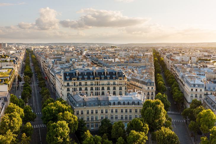 KC Martin - Aerial,View,Of,The,16th,Arrondissement,In,Paris,,France.,Photo